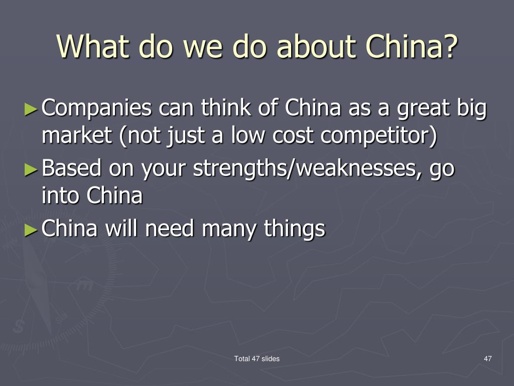What do we do about China?