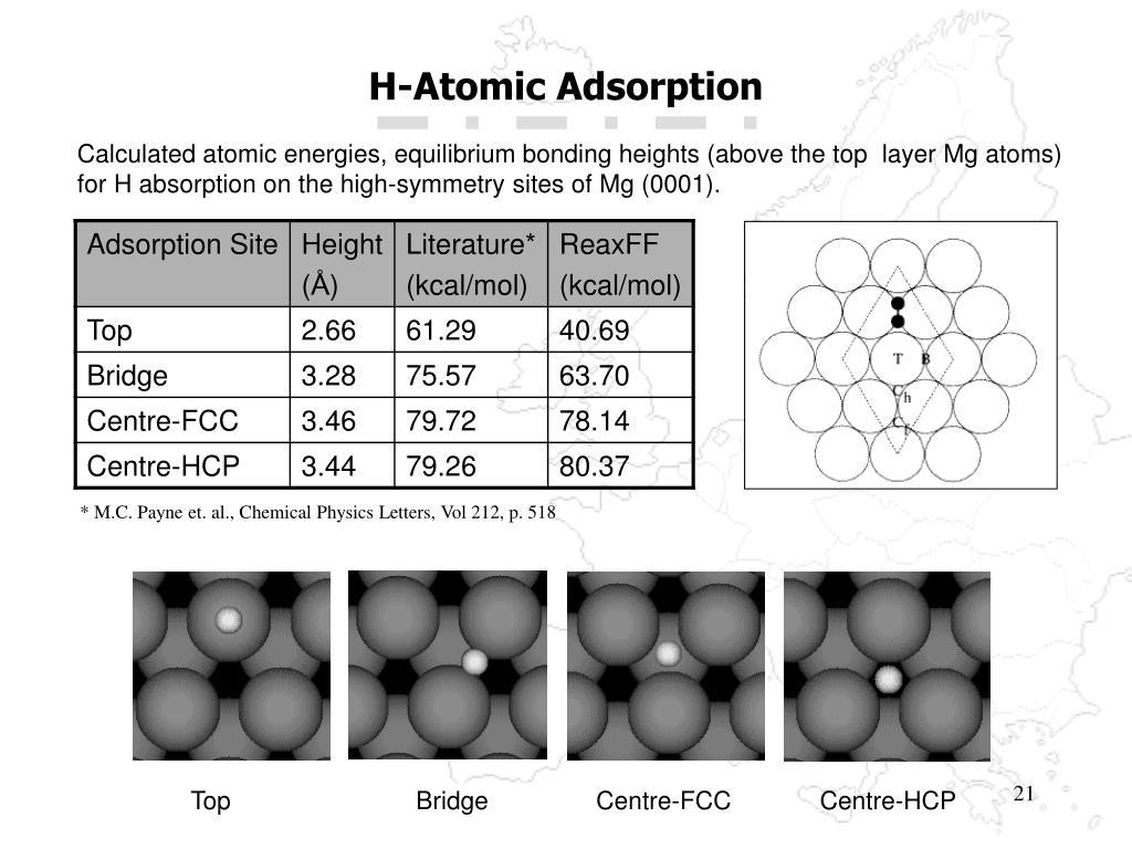 H-Atomic Adsorption