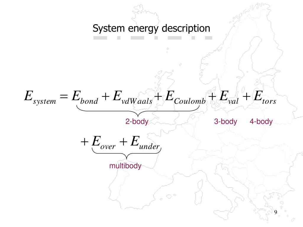 System energy description