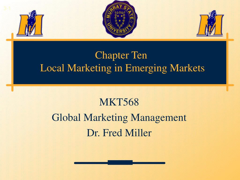chapter ten local marketing in emerging markets