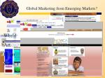 global marketing from emerging markets