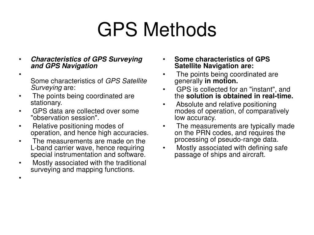 gps methods l.