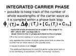 integrated carrier phase