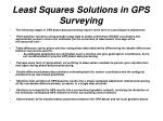least squares solutions in gps surveying