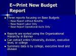 e print new budget report