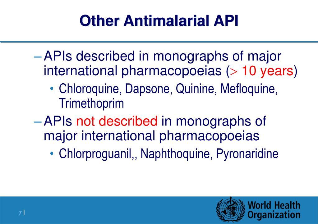 Other Antimalarial API