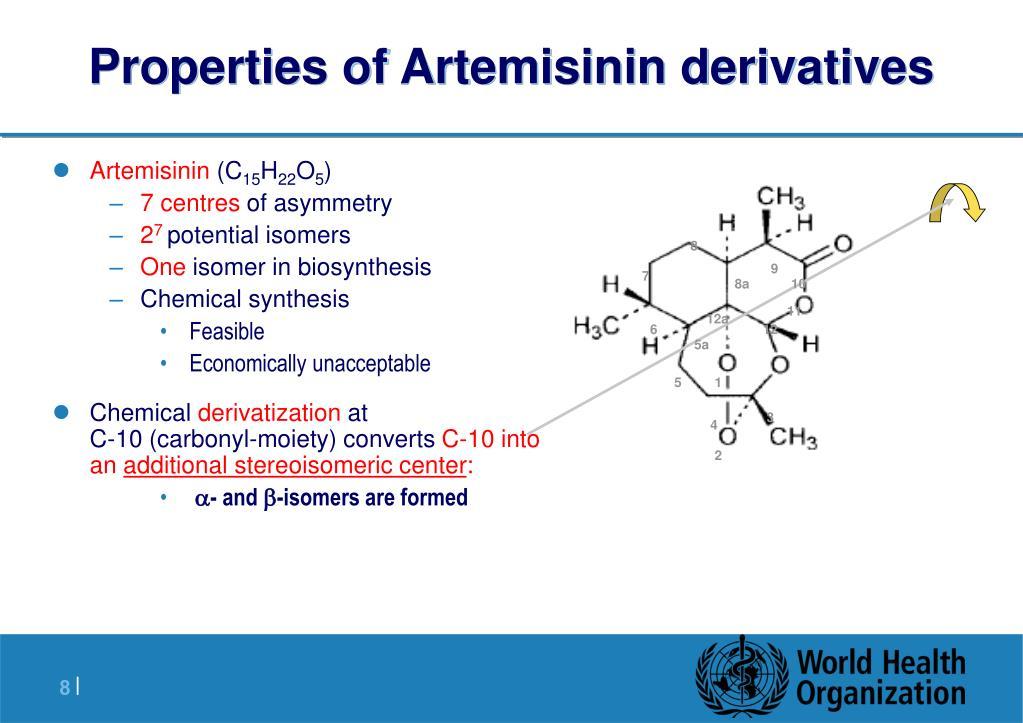 Properties of Artemisinin derivatives