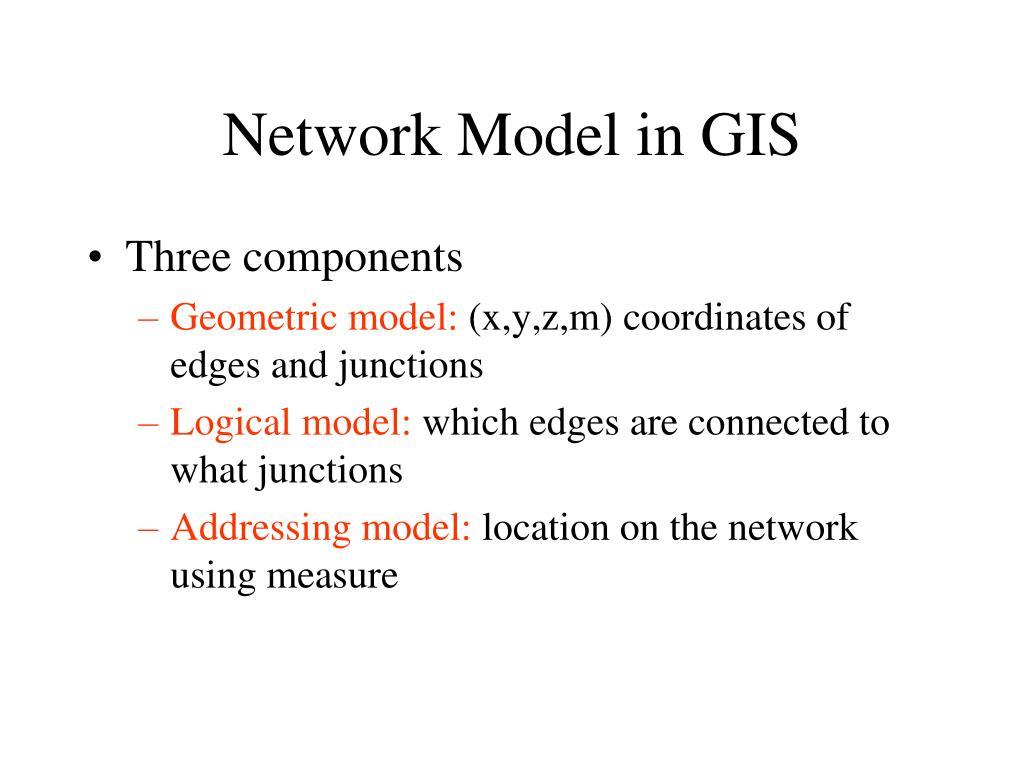 Network Model in GIS