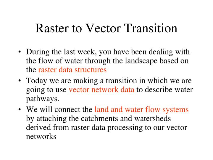 Raster to vector transition
