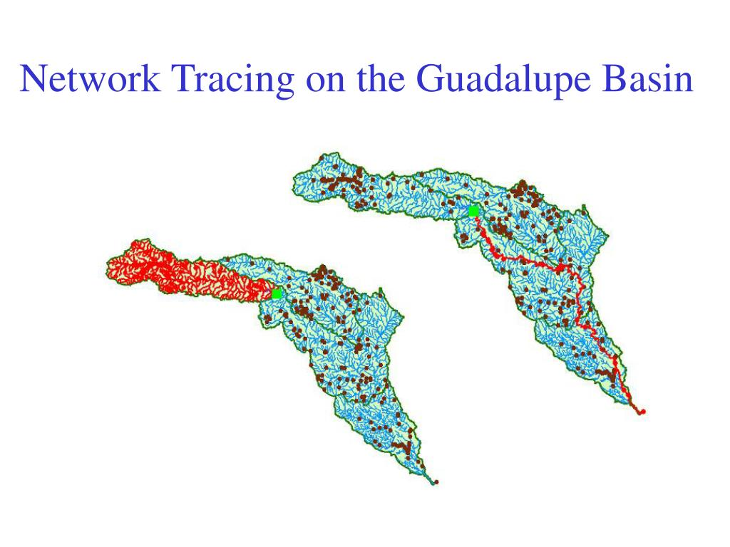 Network Tracing on the Guadalupe Basin