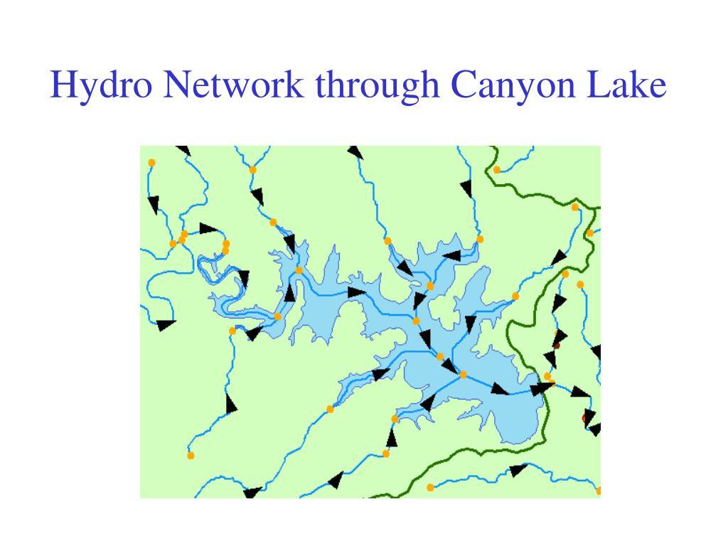 Hydro Network through Canyon Lake