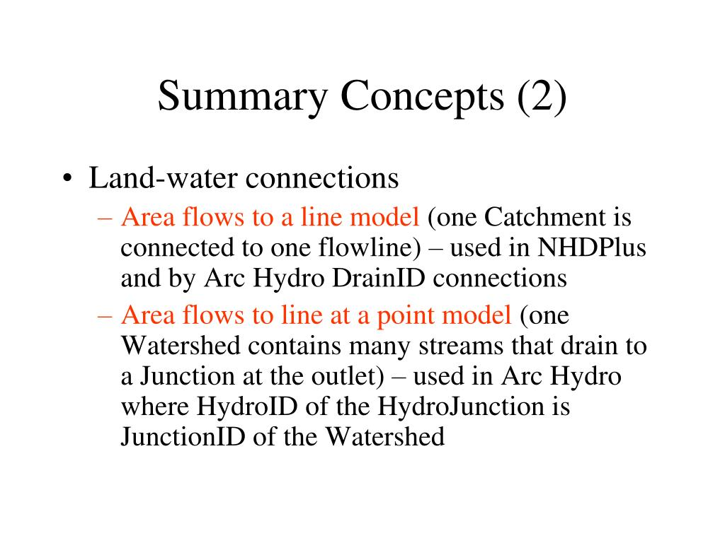 Summary Concepts (2)