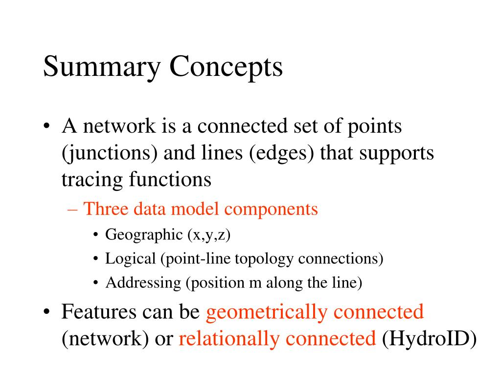 Summary Concepts