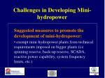 challenges in developing mini hydropower28