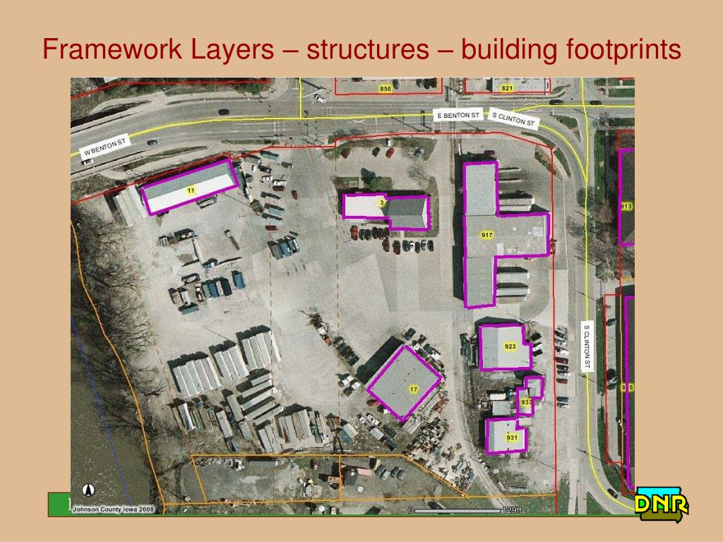 Framework Layers – structures – building footprints
