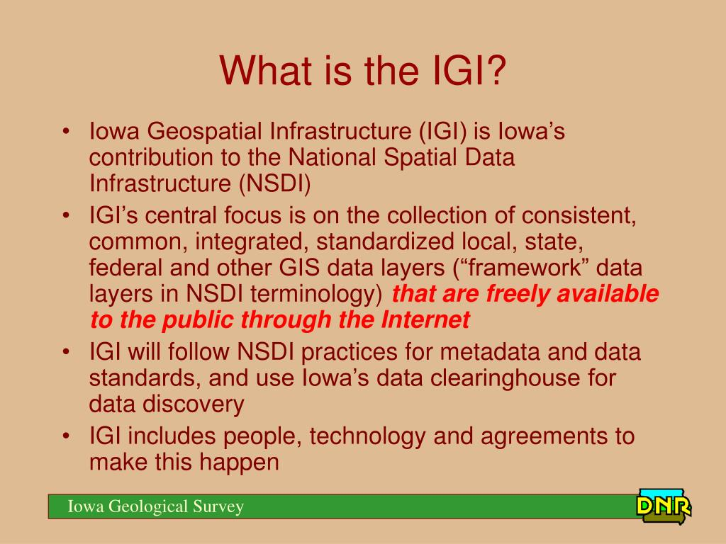 What is the IGI?