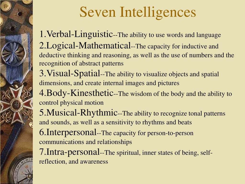 Seven Intelligences