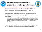 examples of our past and present consulting work cont