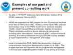 examples of our past and present consulting work