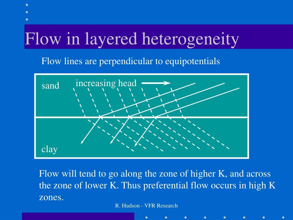 Flow in layered heterogeneity