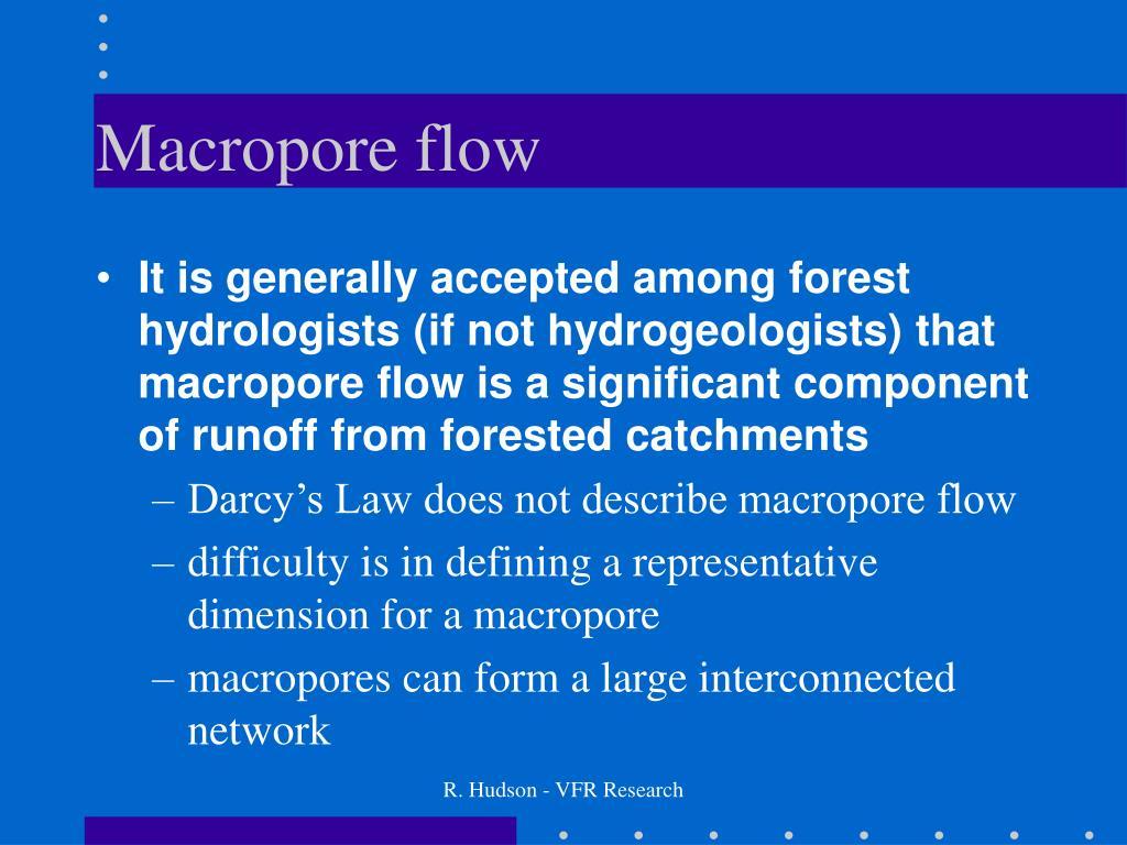 Macropore flow