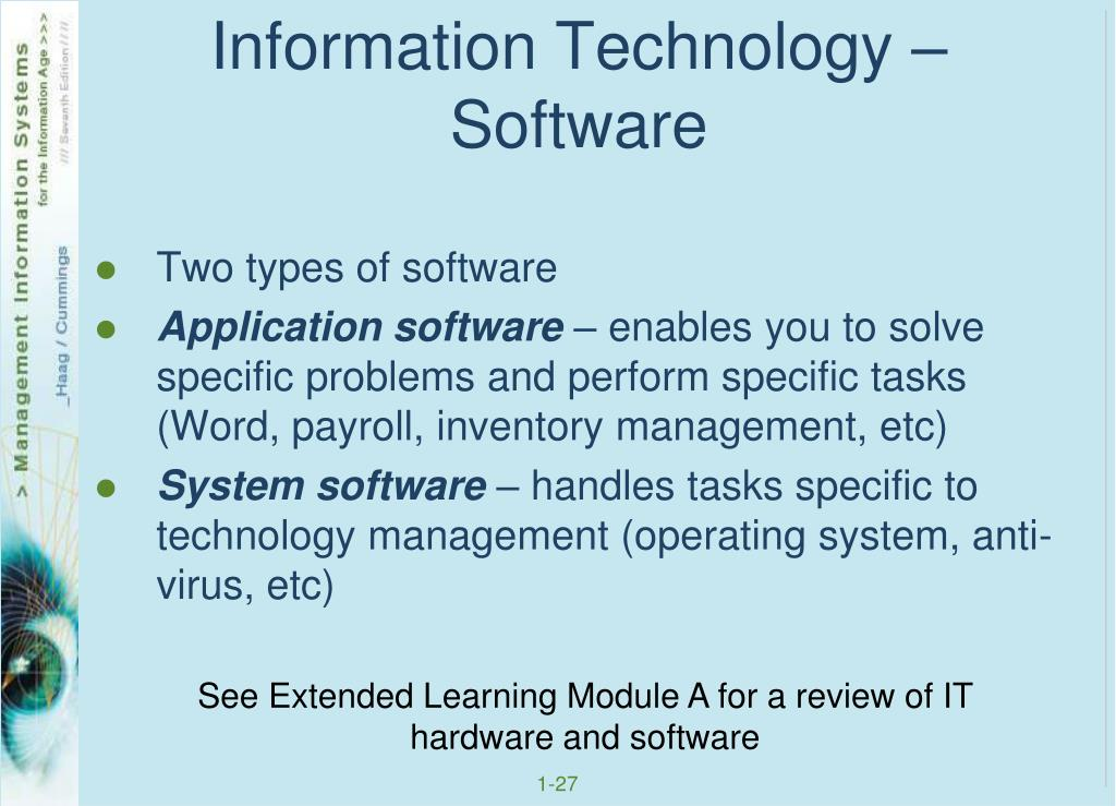 Information Technology – Software