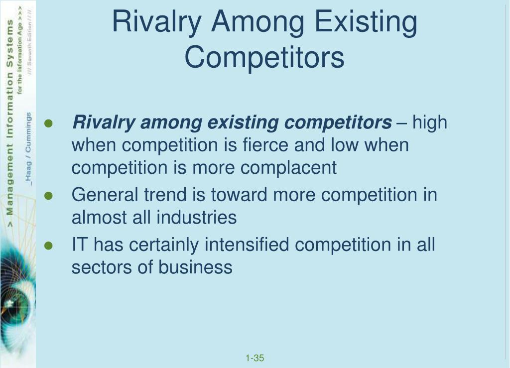 Rivalry Among Existing Competitors