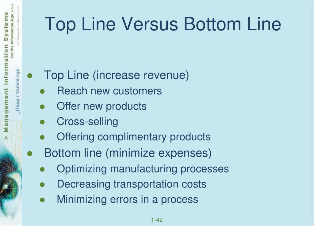 Top Line Versus Bottom Line