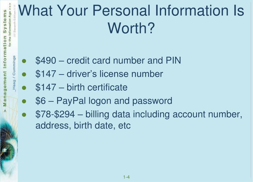 What Your Personal Information Is Worth?