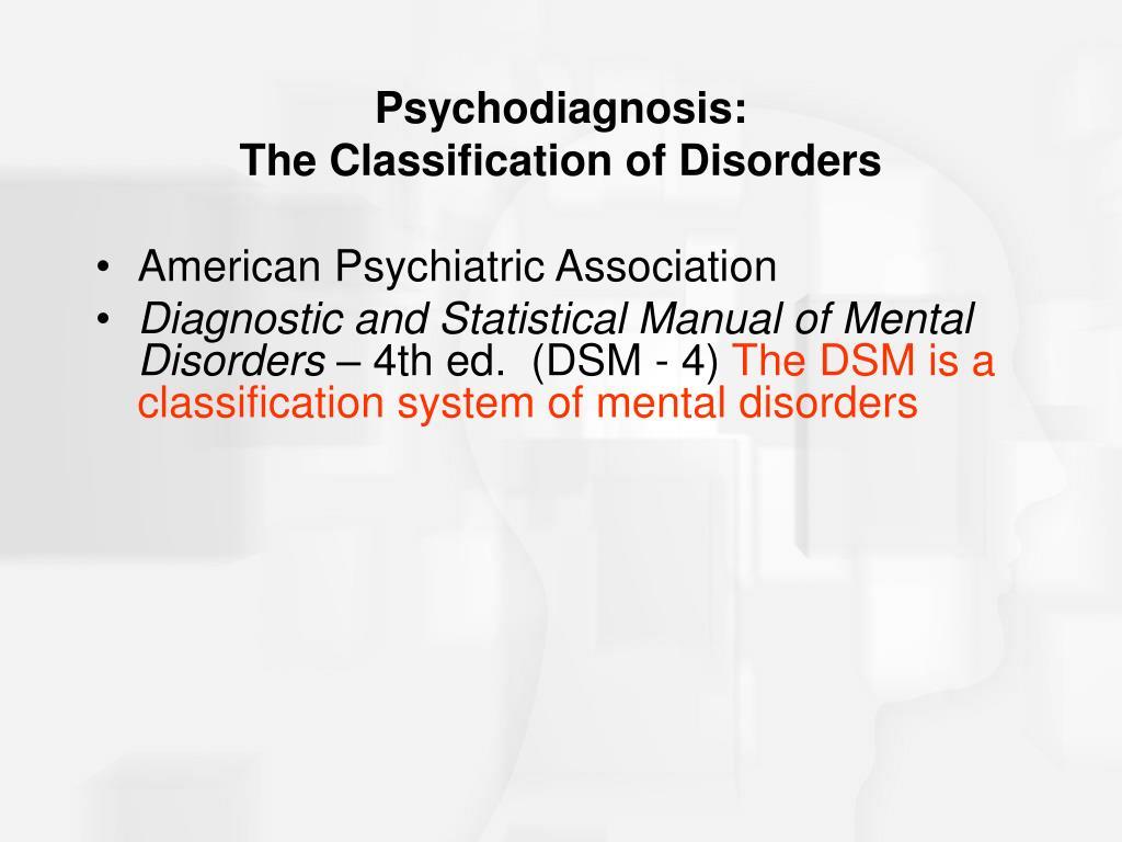 Psychodiagnosis: