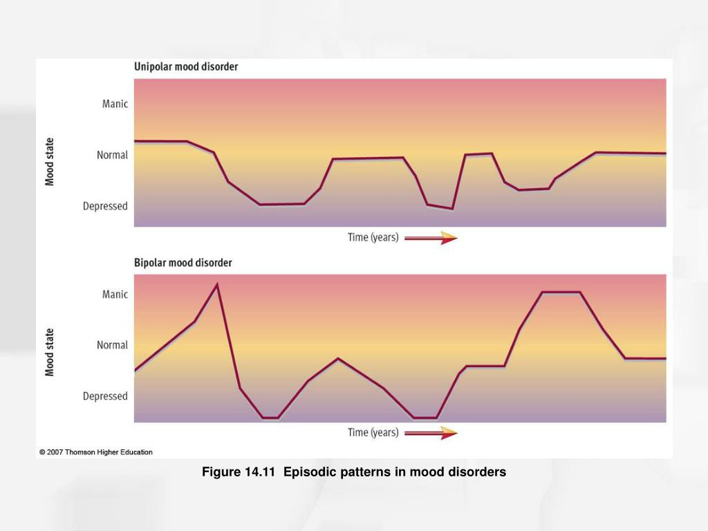 Figure 14.11  Episodic patterns in mood disorders