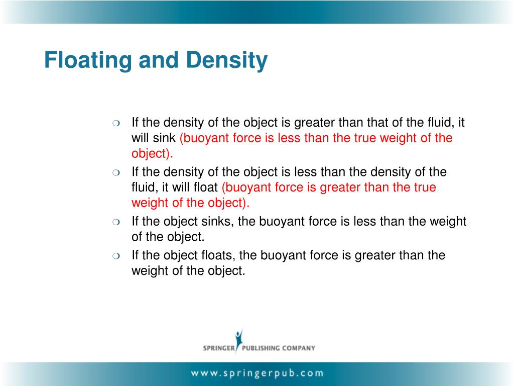 Floating and Density