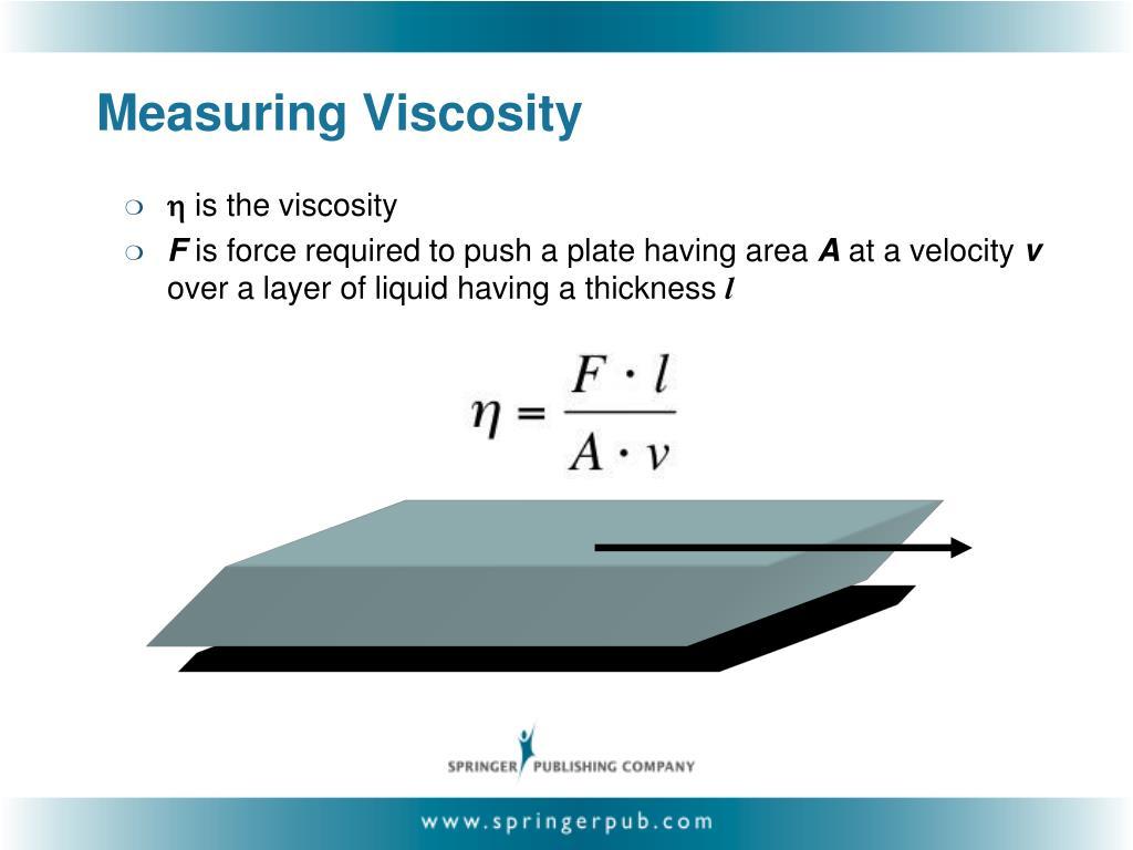 Measuring Viscosity