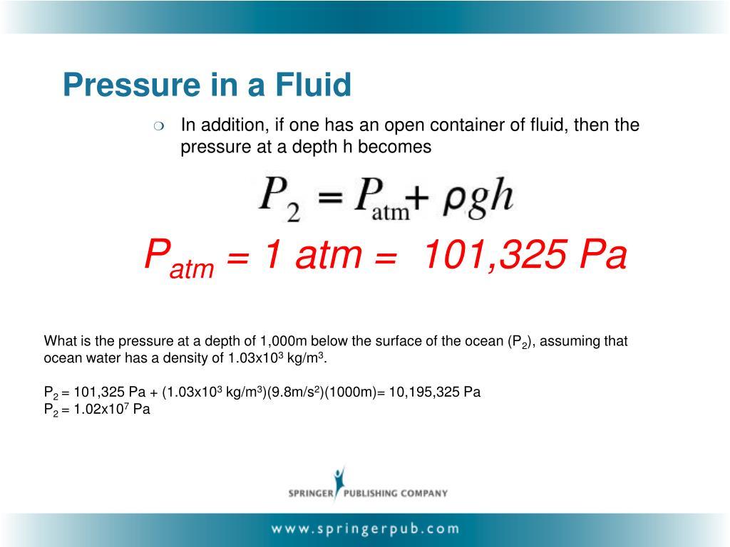 Pressure in a Fluid