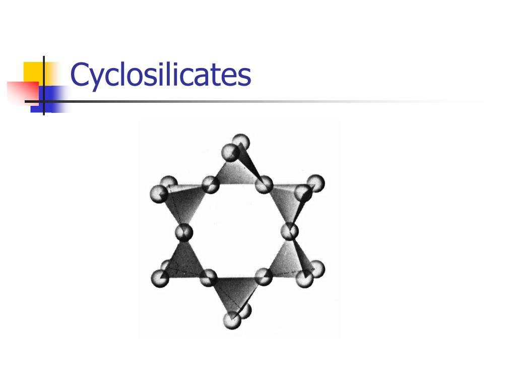 Cyclosilicates