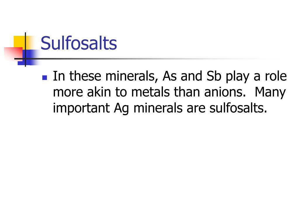 Sulfosalts
