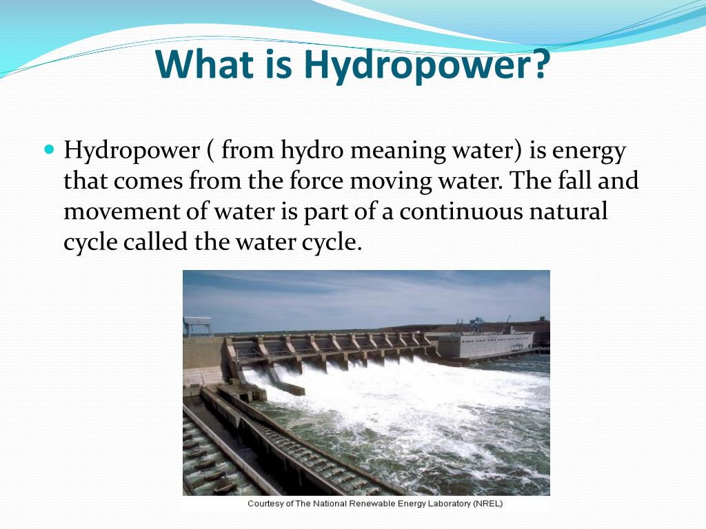 what is hydropower l.
