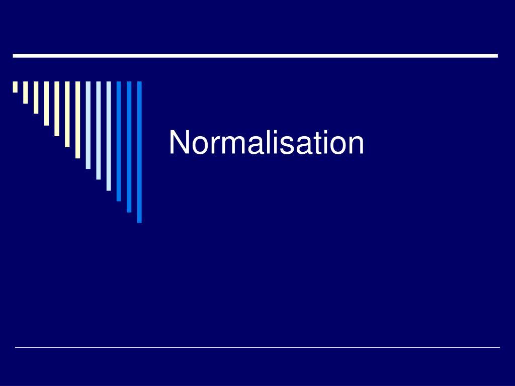 normalisation l.