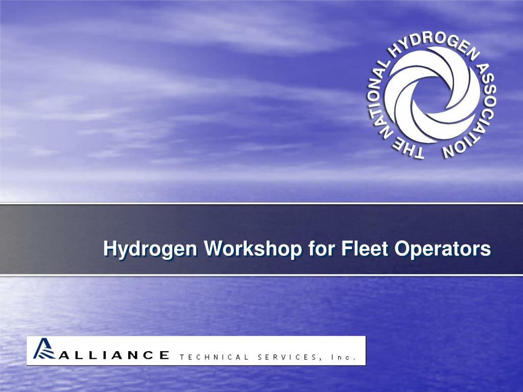 Hydrogen Workshop for Fleet Operators