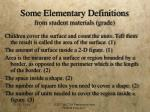 some elementary definitions from student materials grade