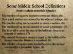 some middle school definitions from student materials grade
