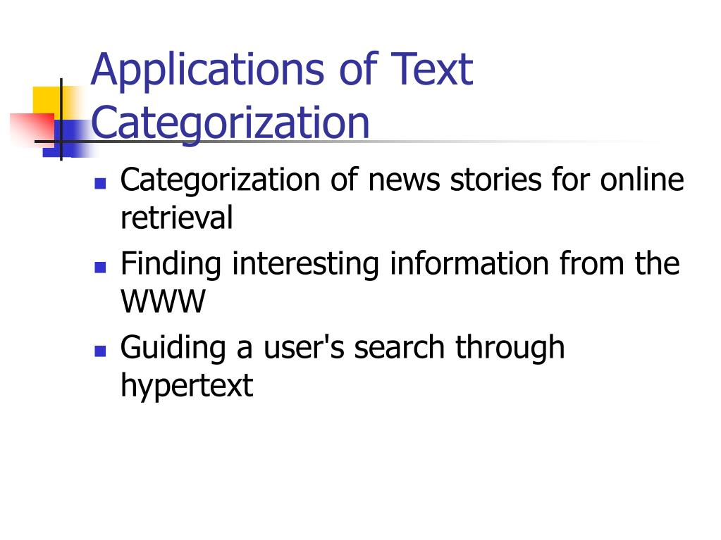 Applications of Text Categorization