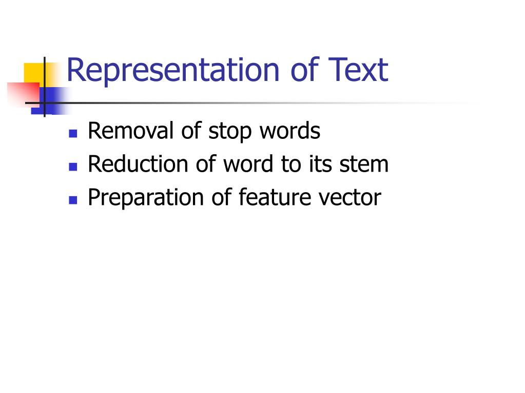 Representation of Text