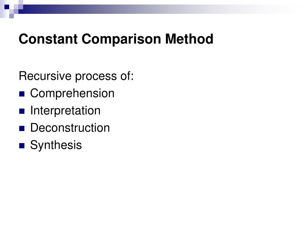 Constant Comparison Method
