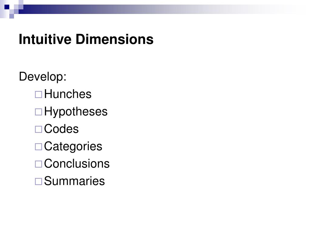 Intuitive Dimensions