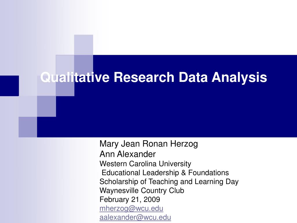 Qualitative Research Data Analysis