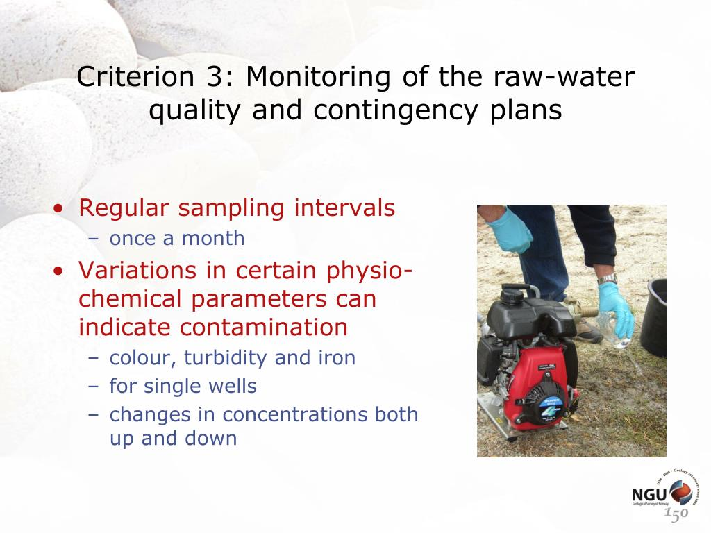 Criterion 3: Monitoring of the raw-water quality and contingency plans