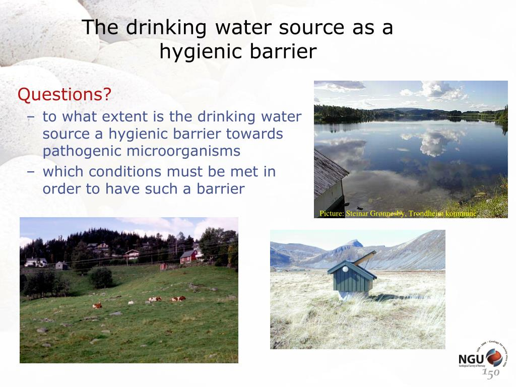 The drinking water source as a hygienic barrier