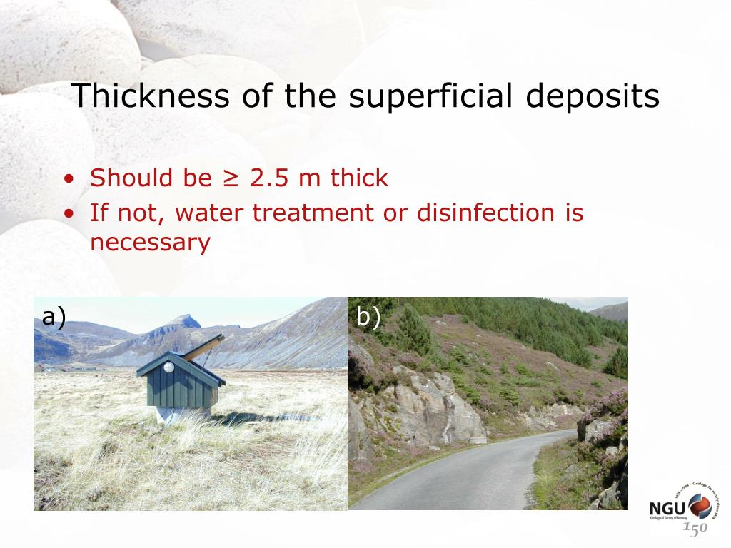Thickness of the superficial deposits