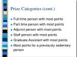 prize categories cont